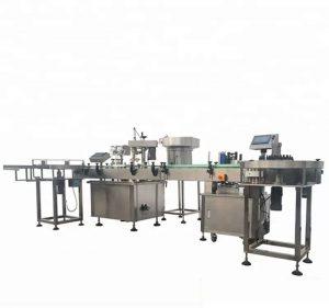 Автоматична машина за пълнене и затваряне на бутилки с голям капацитет