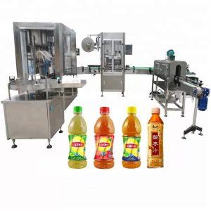 Автоматична машина за пълнене на течности с винтова капачка