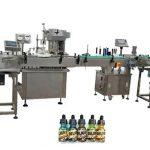 Две глави напълно автоматични машини за пълнене на бутилки за бутилки от 30 ml кехлибар